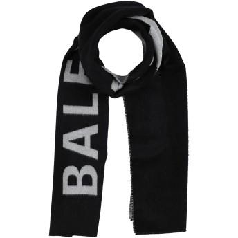 《期間限定セール開催中!》BALENCIAGA メンズ マフラー ブラック ウール 100%