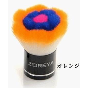 化粧筆 化粧ブラシ 歌舞伎ブラシ タクロン 2色 Z-257 (オレンジ)
