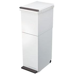 分別ダストボックス パッキン付ペダル2段スリム 38L   ゴミ箱 ごみ箱 おしゃれ 分別 2分別(C021)