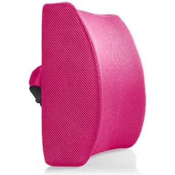 腰 痛クッション オフィス チェアー 車 椅子 用 腰用 ランバーサポート(メッシュピンク)