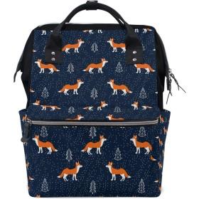 ママリュック 狐狸 かわいい ミイラバッグ デイパック レディース 大容量 多機能 旅行用 看護バッグ 耐久性 防水 収納 調整可能 リュックサック 男女兼用
