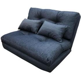 デニム調3WAYソファベッド枕付き2P SGS-18DDM