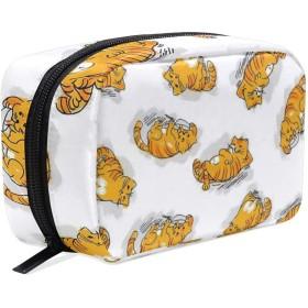 おもしろ 猫 化粧ポーチ メイクポーチ 機能的 大容量 化粧品収納 小物入れ 普段使い 出張 旅行 メイク ブラシ バッグ 化粧バッグ