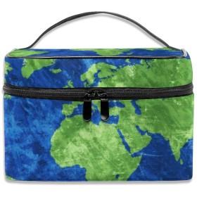MEClOUD 世界地図 化粧ポーチ メイクポーチ コスメバッグ コンパクト 収納 雑貨大容量 防水 小物入れ 旅行用