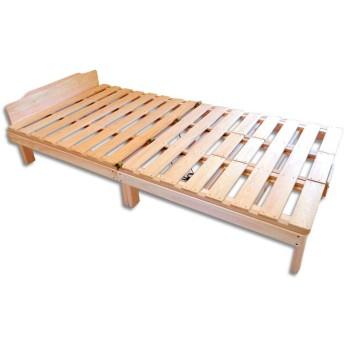 国産ひのきの頑丈枠(高さのあるフレーム)付布団干し機能付きすのこベッドセット