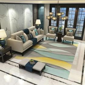 TJTJ 現代のミニマリストのリビングルームのカーペットのソファーのコーヒーテーブルの寝室の家の完全な長方形のクッション リビングルームカーペット (Color : 002, サイズ : 120160cm)