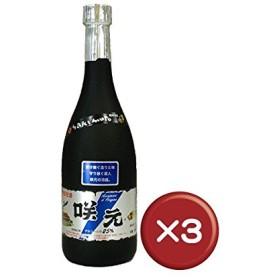 咲元25度 黒瓶シルバー 720ml 3本セット