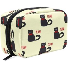 Carrozza 化粧ポーチ メイクボックス ポーチ 仕切り レディース 女の子 学生 おしゃれ 猫 動物 化粧バッグ メイクポーチ 化粧ボックス コスメバッグ 小物ケース かわいい