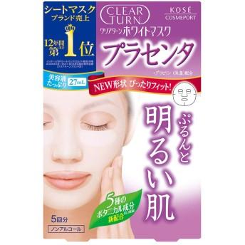 KOSE コーセー クリアターン ホワイトマスク (プラセンタ) 5回分(22mL×5)