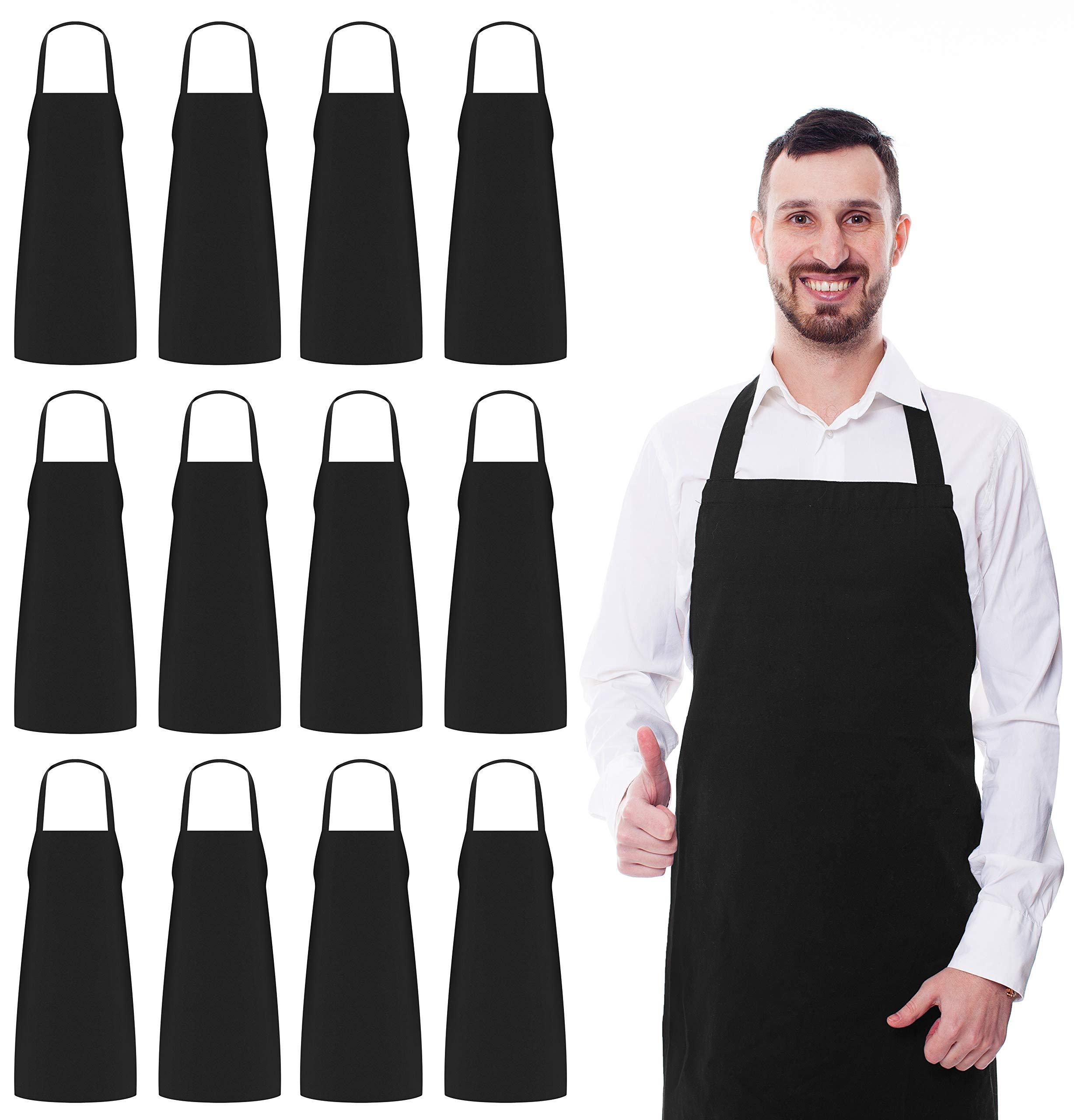 Bon Chef Professional Black /& White Check Bib Apron Cotton Chefs Kitchen Apron