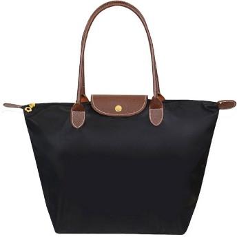 ZWOOS トートバッグ 折り畳み式 内ポケット付き 大容量 通勤 旅行 買い物用 防水 ハンドバッグ 収納バッグ