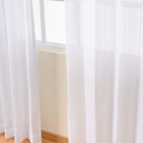 カーテンチアフル レースカーテン ミラー 幅150cm×丈223cm 2枚組 トリルレース ホワイト