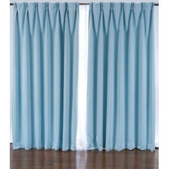 1級遮光カーテン 2枚入り ブルー 巾100X丈110