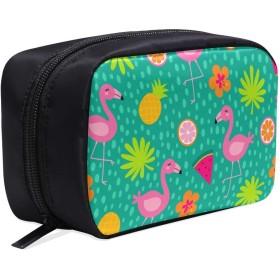GGSXD メイクポーチ パイナップルやおもしろいフラミンゴ ボックス コスメ収納 化粧品収納ケース 大容量 収納 化粧品入れ 化粧バッグ 旅行用 メイクブラシバッグ 化粧箱 持ち運び便利 プロ用