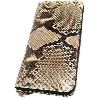 最高級の逸品!蛇革 パイソン長財布 [Maturi] 高級 財布 ラウンドファスナー メンズ 紳士 プレゼント360066