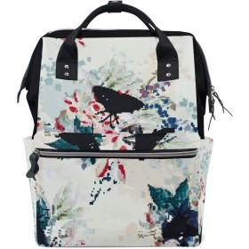 ママリュック 水墨画 きれい 中国風 ミイラバッグ デイパック レディース 大容量 多機能 旅行用 看護バッグ 耐久性 防水 収納 調整可能 リュックサック 男女兼用