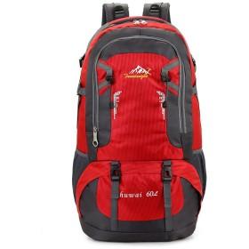 Tenflow リュックサック 防水 バックパック バッグ ザック オシャレ カジュアル 大容量 スポーツ クライミング 旅行 サイクリング 021-rysm-hw8610(60L レッド)