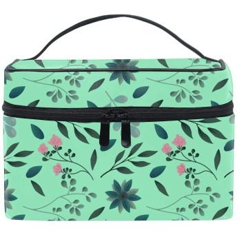 花の葉コスメポーチ 化粧収納バッグ レディース 携帯便利 旅行 誕生日 プレゼント