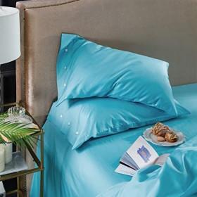 寮の枕、綿充填柔らかい快適な色の枕カバーは寝室のベッドサイドの枕を褪色させないで2ペア (Color : #8)