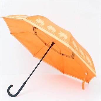 晴雨兼用 逆さに開く2重傘 人気ブランド「moz」とコラボした逆さに開く circus×moz [マンダリン]