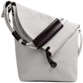 帆布ショルダーバッグ レディース マザーズバッグ 多収納ショルダーバッグ 斜め掛け 防水ショルダーバッグ 大容量バッグ マザーバッグ (ホワイト)