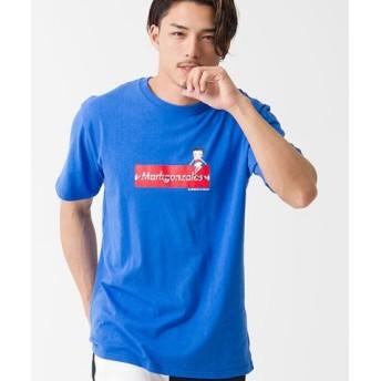 (SILVER BULLET/シルバーバレット)MARK GONZALES【マークゴンザレス】プリントクルーネック半袖Tシャツ/メンズ ブルー 送料無料