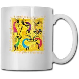 マグカップ ココペリ 踊り おしゃれ コーヒーカップ ティーカップ コップ 面白い食器 かわいい 大容量 陶器 プレゼント
