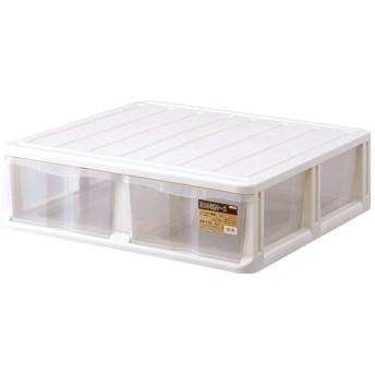 天馬 衣装ケース 押入れ収納ケース 押入れ用 WM-102 ホワイト 幅74×奥行70×高さ21.5cm