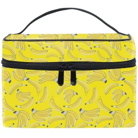 バナナ収納バッグ コスメポーチ 化粧ポーチ 洗面用具入れ トラベルポーチ 旅行 出張 収納 コスメバッグ コンパクト 超軽量