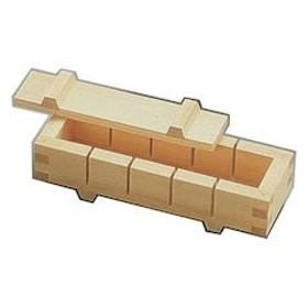 ヤマコー 木製 押し寿司 五ッ切(白木) BSS22