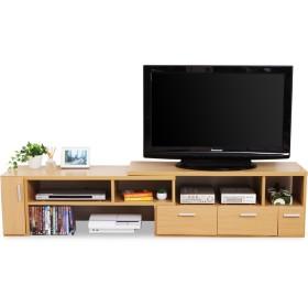 LOWYA TVボード テレビ台 TV台 伸縮 伸縮テレビ台 コーナー ローボード ナチュラル