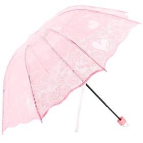 Elehere 超軽量透明な桜柄傘レディース傘晴雨兼用傘可愛い傘美しい桜女性レディース用折り畳み傘持ち運び携帯用傘(レース)