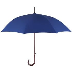 PLEMO 長傘 大きな傘 自動開けステッキ傘 紳士傘 耐風傘 撥水加工 梅雨対策 (ブルー&ブラウン)