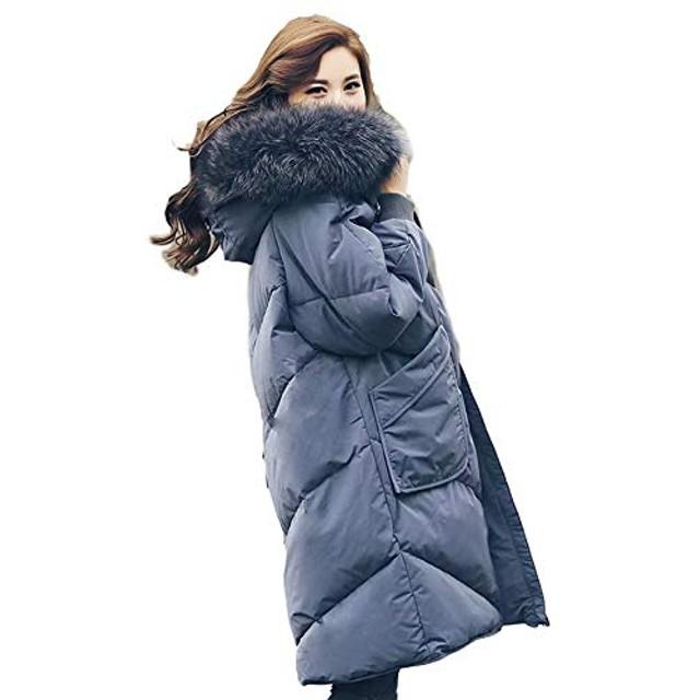 ELISAEダウンコート ロング レディース服 大人 冬服 コート アウター フード付き 大きいサイズ 秋冬 ロングコート リアルファー付