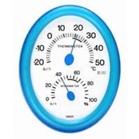 クレセル 温湿度計 CR-421 ブルーB 【人気 おすすめ 通販パーク】