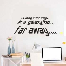 wangten ウォールステッカー A Long Time Ago Star Wars 文字 壁紙シール 壁ステッカー 背景のステッカー ベッドルーム 防水 おしゃれ ホーム飾 剥がせる 文字ステッカー