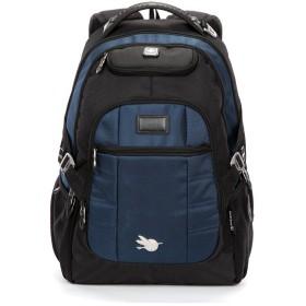 リュック 旅行バッグ 登山リュック 通勤用 バッグ SUISSEWIN SN9068 メンズ スクエアリュック 通学/通勤対応 ノートPC・iPad・タブレット収納 15インチまで対応 A4書類収納可アウトドア (ブルー)