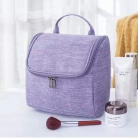 大容量カチオンオックスフォード布ウォッシュバッグぶら下げ旅行収納バッグ化粧品バッグ防水ウォッシュバッグ (Color : Purple)