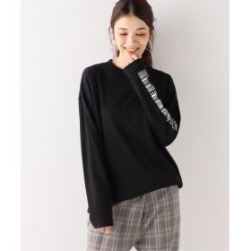 Spick and Span 【G. 】ソデプリントロングTシャツ ブラック フリー