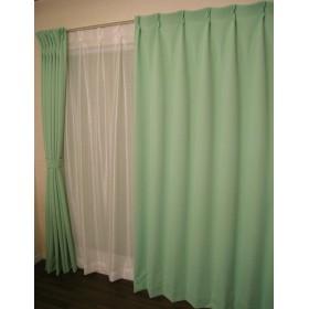 遮光カーテン サーブル2 幅100cm×丈178cm 2枚組 (グリーン)