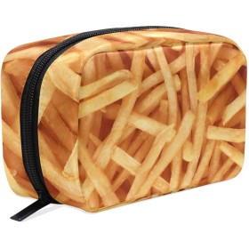 化粧品袋 トイレタリーバッグ 大容量とマルチコンパートメント付き 美容製品 整理用女性女の子用 プレゼント French Fries
