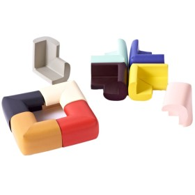 ARAUS 子供 コーナーガード コーナークッション けが防止 カラフル 超柔らか 安全感 かんたん設置 両面テープ付き 赤ちゃん キッズ テーブル 戸棚 家具 エッジ 保護