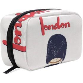 イギリス ロンドン 兵士 化粧ポーチ メイクポーチ 機能的 大容量 化粧品収納 小物入れ 普段使い 出張 旅行 メイク ブラシ バッグ 化粧バッグ