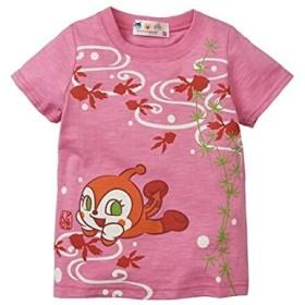 [nissen(ニッセン)] アンパンマン 綿100% 和柄前後プリント Tシャツ 男の子 女の子 子供服 キッズ ピンク ウエスト 80cm