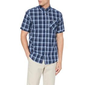 Tom Tailor Casual 1008183カジュアルブルーシャツ(ブルーシェードチェック15858)、ミディアムメンズ