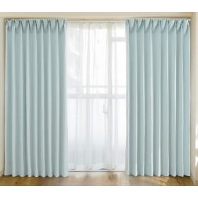 【5色x128サイズから選べる】カーテン 遮光 1級 断熱 保温 洗える 形状記憶 ドレープカーテン 幅100cm×丈 155cmグリーン