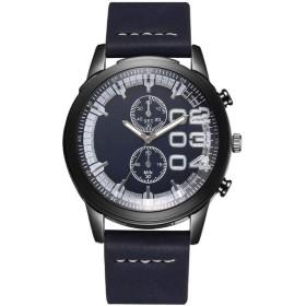 クオーツ腕時計 メンズ腕時計 クラシック ウォッチ メッシュ カジュアル 人気 紳士腕時計 シンプル カジュアル腕時計 ビジネス腕時計 (Color : 青)
