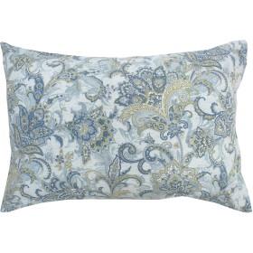 メリーナイト サックス 43×63㎝ 日本製 綿100% 枕カバー 「アラベスク」 261575-76