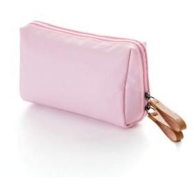 KI¢KI 仕切りポケットつき メイクポーチ 軽くてコンパクト (ピンク)