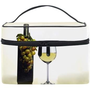 Perfect Grape Wineトイレタリーバッグ トラベルポーチ 洗面用具入れ 化粧ポーチ バスルームポーチ マジックテープ フック付き